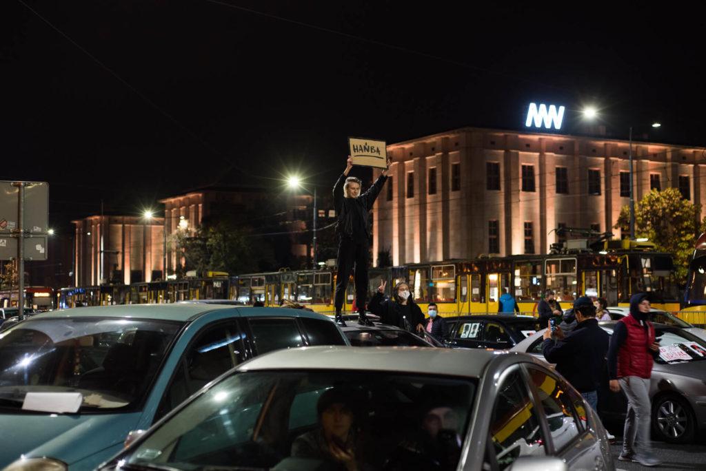 strajk kobiet Warszawa Rondo de Gaulle'a